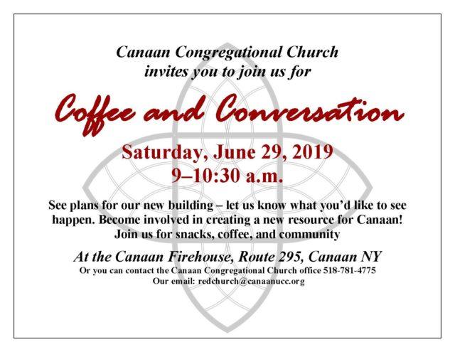 Coffee and Conversation invitation